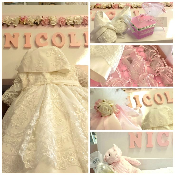 Christening dress, floral themed personalised box, matching bomboniere and candle - all from Lilys Attic (www.lilysattic.com.au)