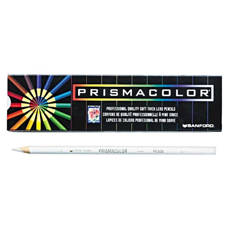 Prismacolor Premier Colored Pencil, White Lead/Barrel, Dozen, White/Wood