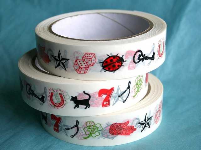 lucky tape by xtinalamb, via Flickr