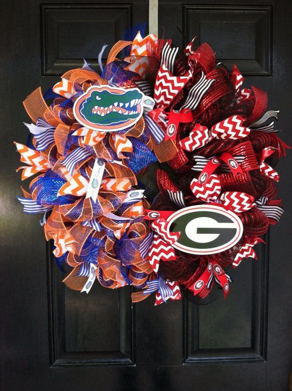 HOUSE DIVIDED Mesh Wreath Georgia Bulldogs by DesignTwentyNineSC, $83.00
