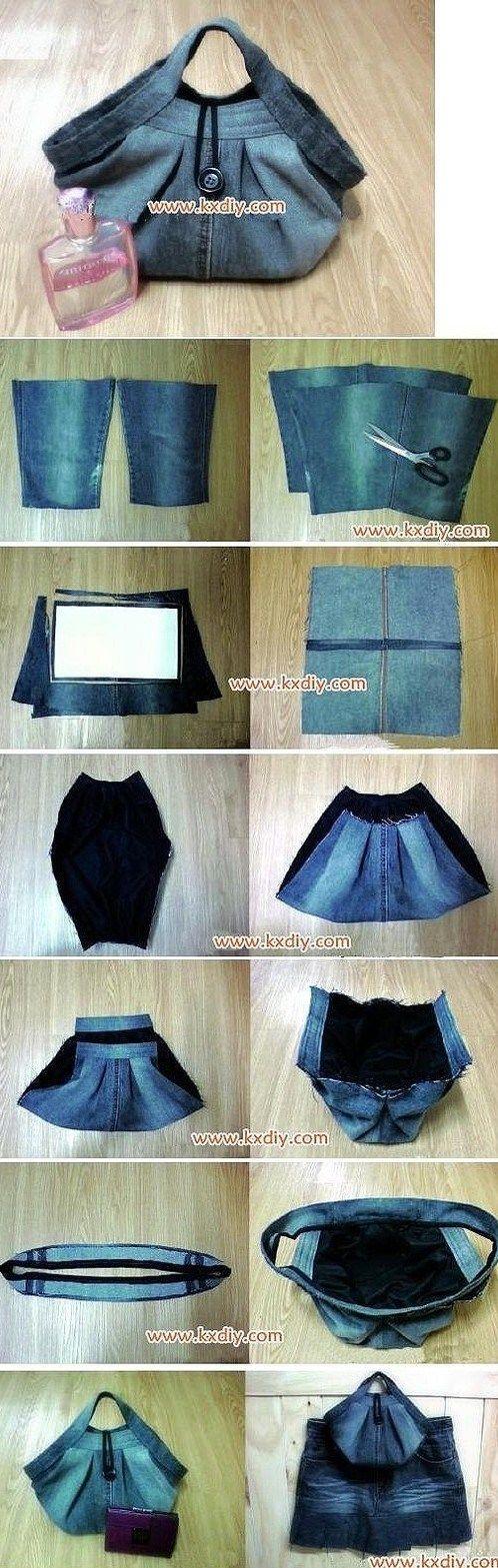 Denim Handbag Photo Sewing Tutorial et plein d'autres modèles
