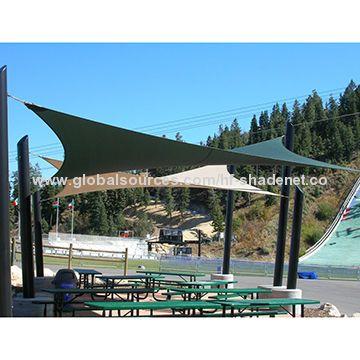HDPE waterproof shade sails of carport