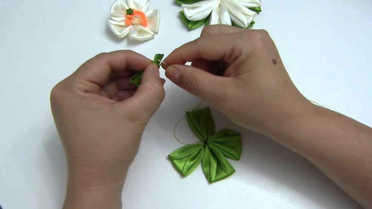 DIY: flores para el cabello paso a paso.ribbon bows in hair
