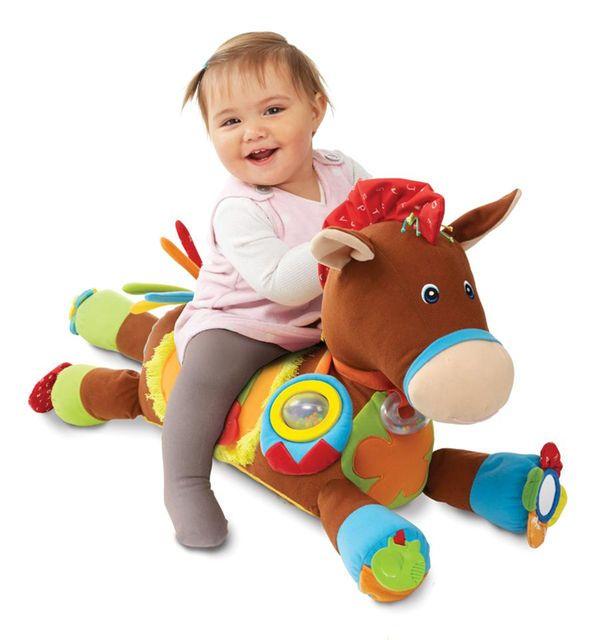 Melissa & Doug K's Kids Giddy-Up and Play Baby Activity Toy - Multi-Sensory Horse