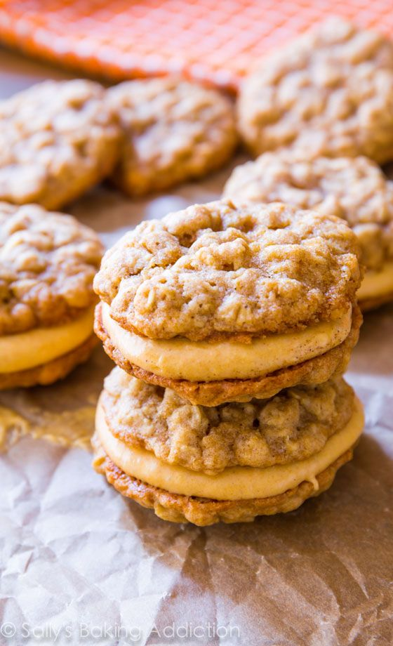 These Oatmeal Pumpkin Creme Pies are amazing any time of year! Soft, chewy, and so much sweet pumpkin and cinnamon flavors.