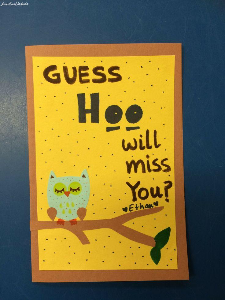 7 farewell card for teacher farewell cards teacher