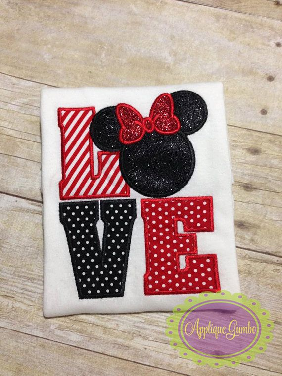 Love Ms Mouse Machine Embroidery Applique by GeauxBabyBoutiqueLA