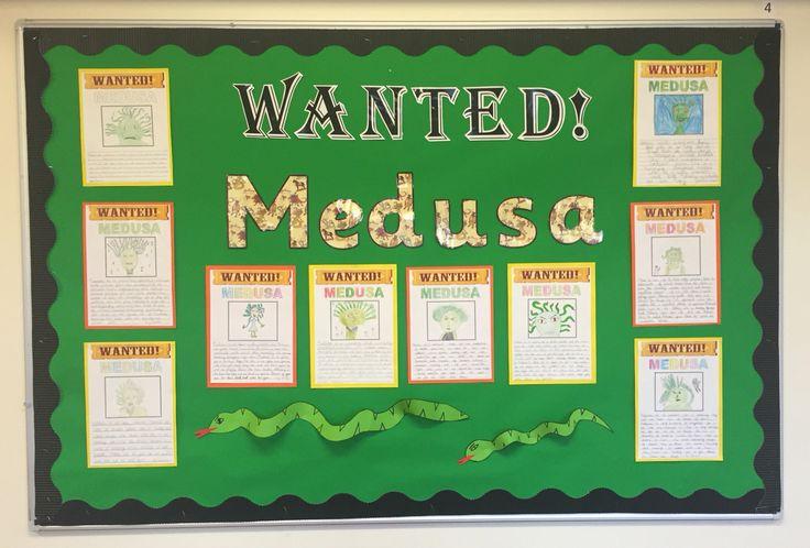 Ks2 Greek myths display English literacy medusa character descriptions