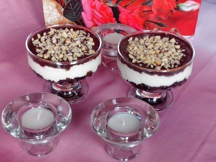 Фото к рецепту: Творожно-шоколадный десерт