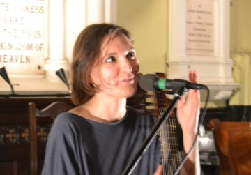 Colleen performing in the Unitarian Church