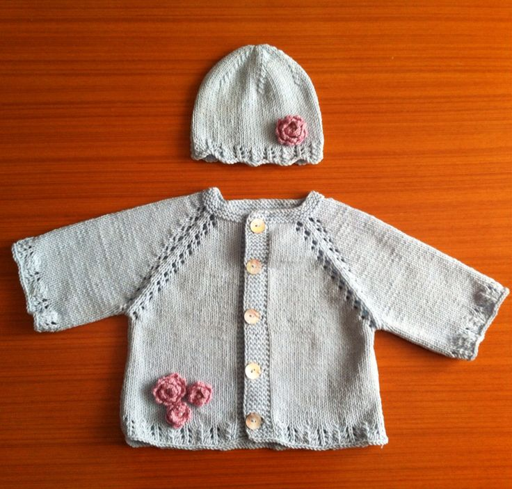 Baby cardigan  i knitted for mewborn girl