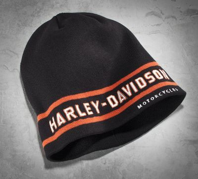 Men's Striped Graphic Knit Hat