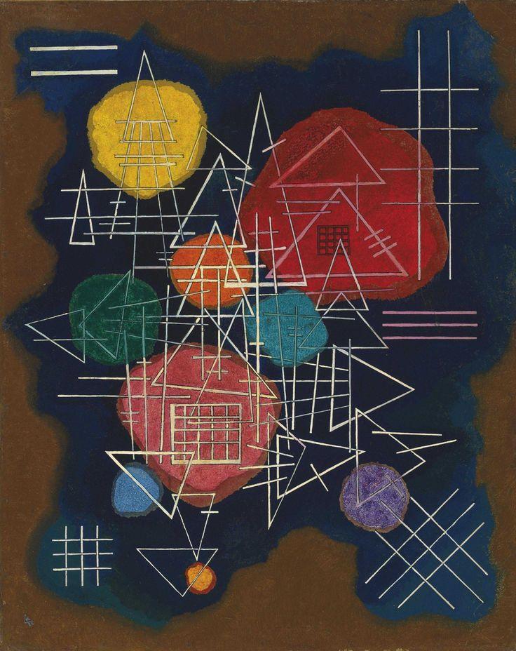 Wassily Kandinsky (1866-1944) Verschleiertes Glühen - Veiled Glow (1928) oil on board laid down on panel 77.5 x 62 cm