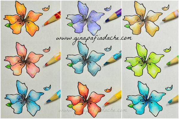 Atelier Gina Pafiadache: Colorindo com o lápis misturinha