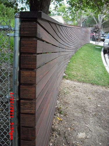 Sloped Top & Bottom Curved Horizontal Fence | Flickr - Photo Sharing!