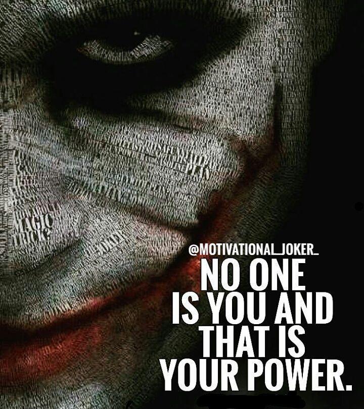 No one is...... For more Motivational and Realistic Quotes  Follow  @motivational_joker_   Follow  @motivational_joker_   Follow  @motivational_joker_  ____________________________________________________________________________________________   Turn on PAGE NOTIFICATION  ____________________________________________________________________________________________ #Joker #HeathLedger  #thejoker #thedarkknight #whysoserious #batman #comics #gotham #gothamcity #villain #dccomics #supervillain…