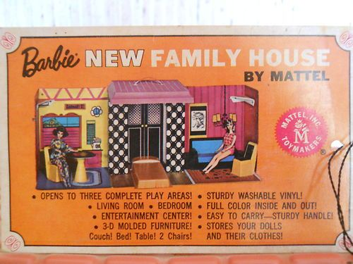 Vintage 1968 Mattel Barbie Family House with Complete Furniture Tag SHIP Free | eBay