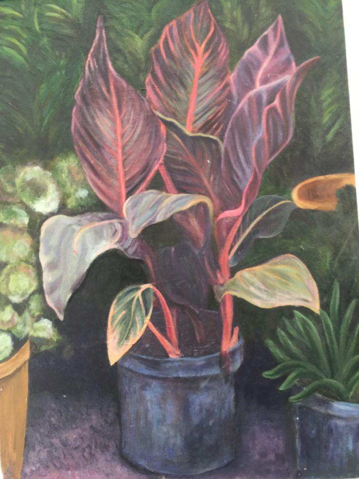 Elysia Endacott - plant study - Acrylic.
