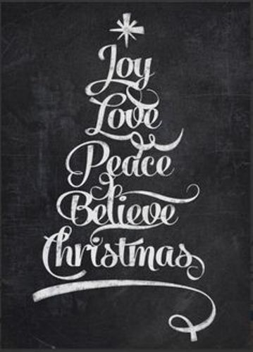 Merry Christmas pics 2016 free hd download to Pinterest,Facebook,Twitter and whatsapp to wish all your friends and family. The image quote reads...Joy,love,peave & believe Christmas. #MerryChristmasPics
