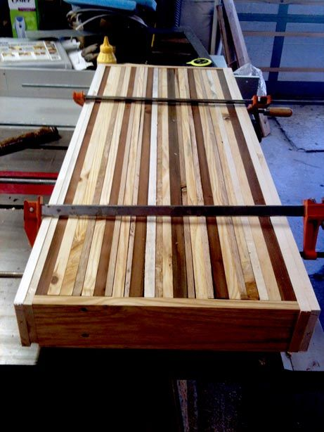 Upcycled version of butcher block counter if use only heat-treated pallet wood.
