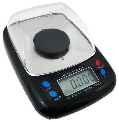 0.005 Carat Digital Diamond Scale Gemstone Gem Scales by US Balance. $89.99. 0.001 Gram 0.005 Carat Digital Diamond Scale Gem Scalesw/Draft Guard This is a Brand New Ultra Precision Milligram Scale manufactured by U.S. Balance. It features 2 interchangeable concave plastic weighing platforms for weighing tablets or powders, has a compact design that is light & versatile, and easily fits in your pocket. It features a clear plastic draft guard for super precise measurement. ...