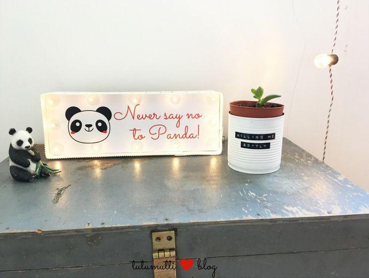 Tutumutti - Gyerekkel kreatívan blog / www.tutumutti.blog.hu / Panda LED-lámpa / Panda LED Lamp / DIY and Crafts