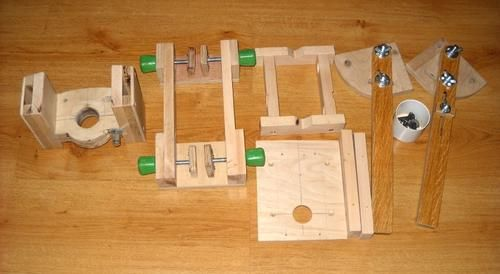 Ryszard's homemade drill guide