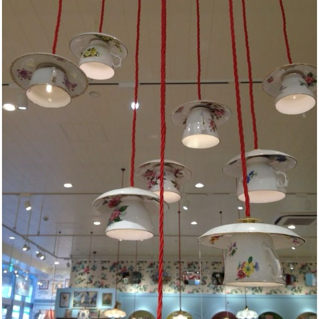 Amazing lighting in the Cath Kidston Tokyo store. Would be perfect over a dining table.