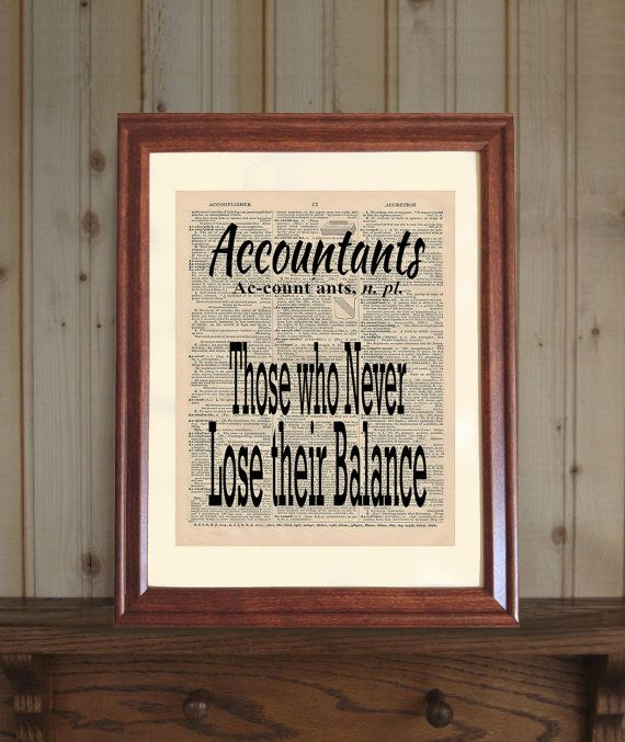 Accountant Dictionary Print Accountant Quote Cpa Office