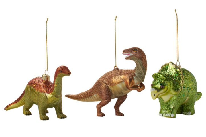Set of 3 Dinosaur tree ornaments - by Found at Fab
