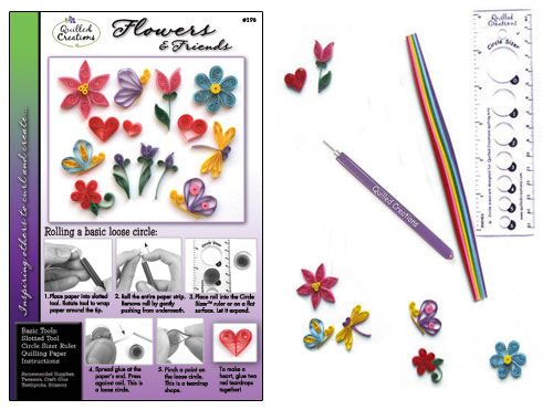 Quilling Kit : #290-CP Flowers & Friends