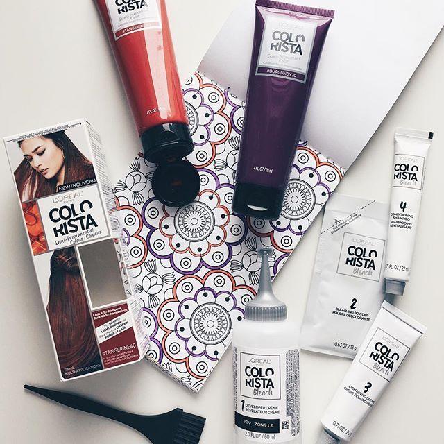 C'est à mon tour d'oser avec la nouvelle coloration semi-permanente #Colorista de @LOrealHair! 🙆🏻 Comme j'ai les cheveux foncés, je vais appliquer le décolorant de la même gamme avant de mettre la couleur! J'hésite encore entre #Tangerine40 ou #Bourgogne20. Une choses est sûre, vous verrez le résultat très bientôt! En attendant, vous pouvez découvrir les produits ici: https://colorista.lorealparis.ca/fr #YourColourYourWay #Sponsored