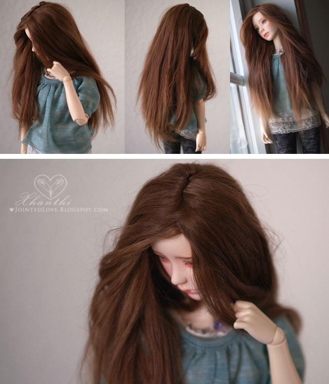 Jointed Love: Making the Alpaca Wig, the animal hair wigs are amazing, mohair and alpaca.