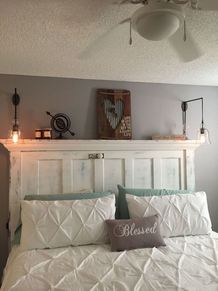 25 best door headboards ideas on pinterest salvaged for Queen headboard ideas