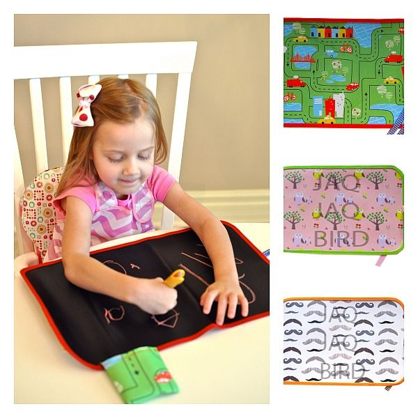 Bid goodbye to boredom at the restaurant or on road trips or even, at home on rainy days with the Jaq Jaq Bird Original Chalk Placemats.   These bright and colourful chalk mats are perfect for keeping your little one entertained while Mum and Dad are out at a restaurant, traveling, or just trying to get things done around the house.