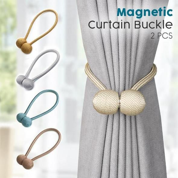 Magnetic Buckle Curtain Tieback 2pcs Magnetic Curtain Curtain