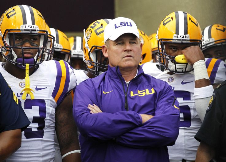 Longtime LSU Head Football Coach Les Miles from 2005-2016