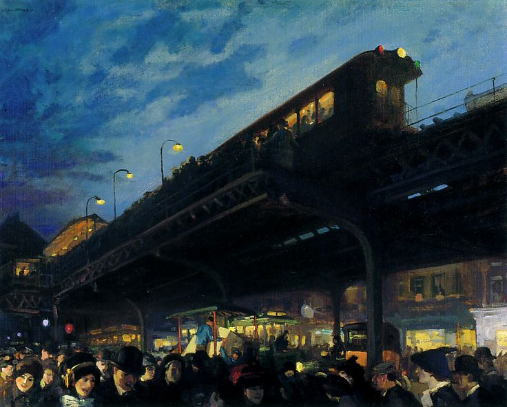 John Sloan, Six-o-clock, Winter 1922
