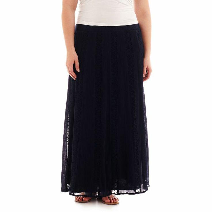 jcpenney st john s bay 174 peasant maxi skirt plus