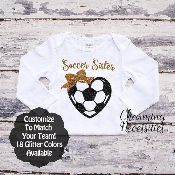 13b834bfb1986 Soccer Sister Shirt LS Fan Toddler Clothes Baby Girl | Cricut ...