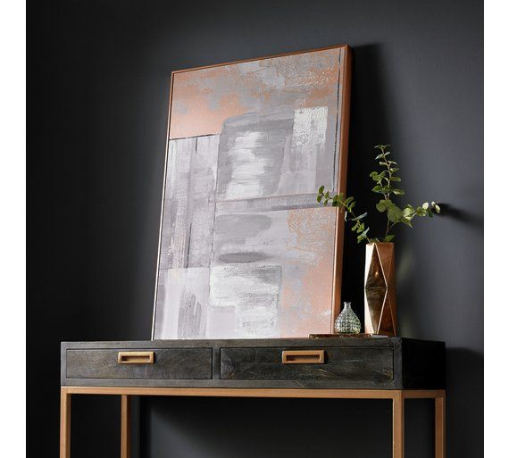 Buy Graham & Brown Glow Hand Painted Canvas - Rose Gold at Argos.co.uk, visit Argos.co.uk to shop online for Pictures and wall art, Wall art, pictures and photo frames, Home furnishings, Home and garden