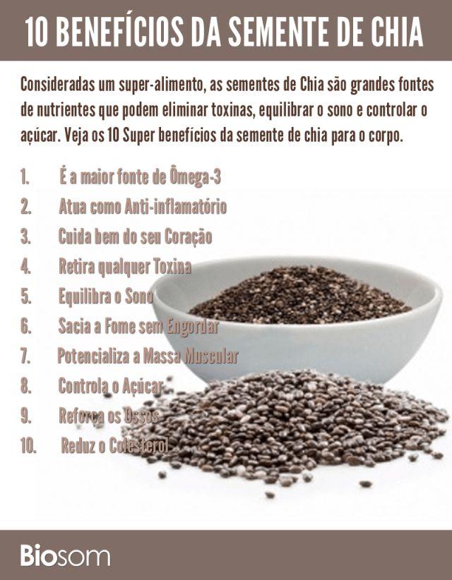 Clique na imagem para ver os 10 benefícios incríveis da semente de chia para…