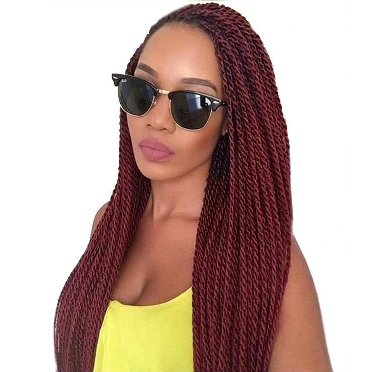 TOMO 18Inch 30Roots/Pack Crotchet Braids 16 Colors Synthetic Senegalese Twist Crochet Hair Extensions 6Packs/Lot #Affiliate