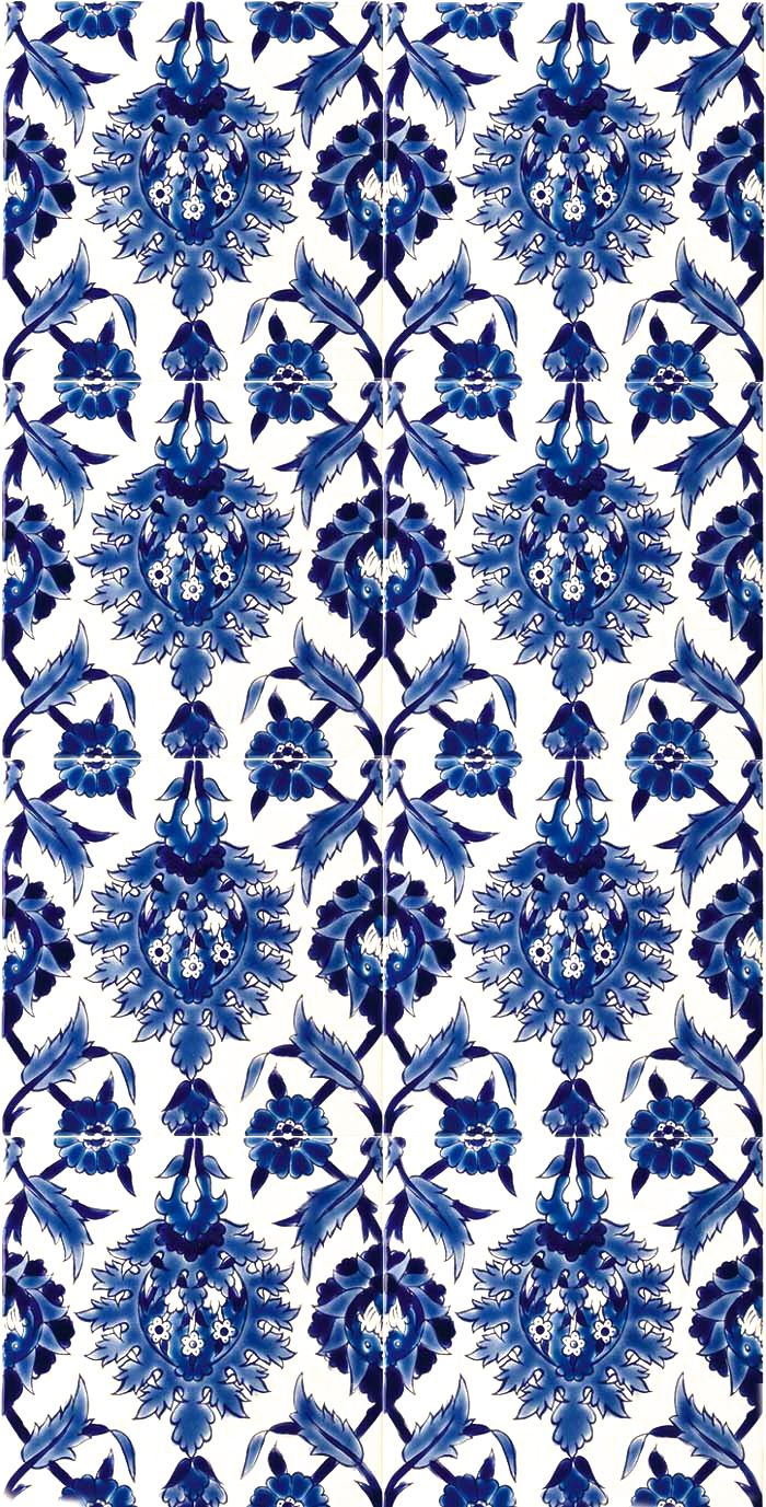 Vintage Blue and White Floral Tiles // www.my-folio.com