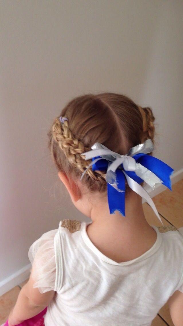 Braids for gymnastics hair