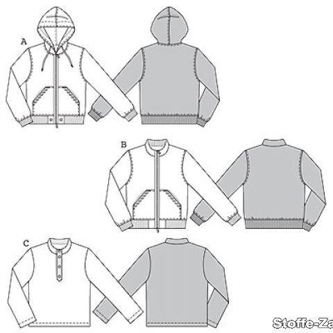 Patron Burda, veste & shirt, taille: 44-56 B-7734 - Tissu et mercerie Tissus-Zanderino.fr