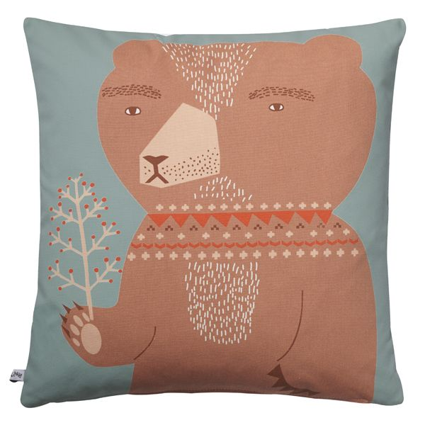 Donna Wilson's friendly bear welcomes Spring on our 100% cotton cushion. http://www.donnawilson.com/439-bear-cushion.html