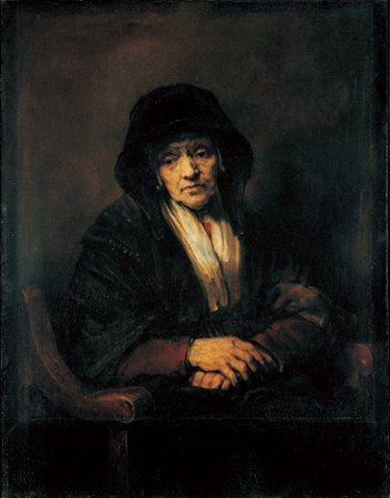 レンブラント「老婦人の肖像」