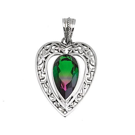 Shop Nicky Butler 7.40ctw Bicolor Cherry Quartz Triplet Heart Pendant 8601318, read customer reviews and more at HSN.com.