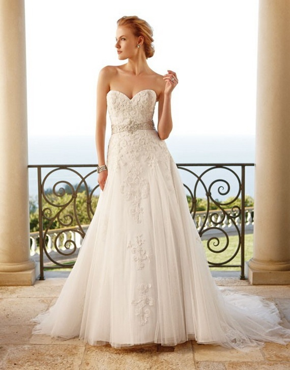modeca wedding dress by enzoani | Casablanca Bridal Wedding Dresses Fall 2011